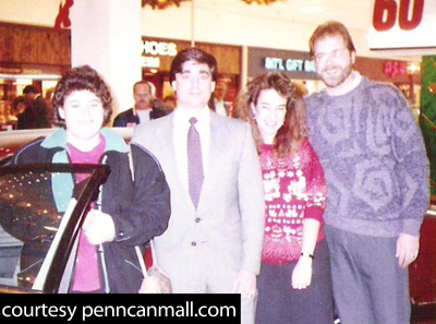 Ted and Amy on the far right in this 1991 photo at the former Penn-Can Mall in Cicero.  This was a CNYRadio.com Picture of the Week in 2008.