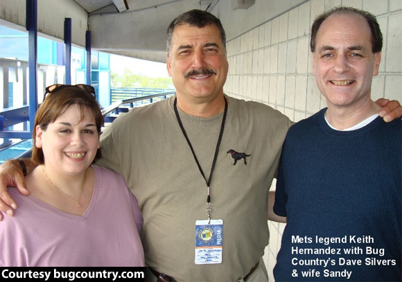 Mr. & Mrs. Dave Silvers with Keith Hernandez