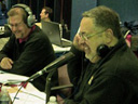 Gene Conte, left and Jim Rondenelli co-hosting during the WIBX Heart Radiothon earlier this year.