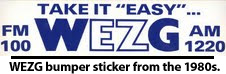 WEZG Radio Bumper Sticker