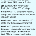 WWLF-FM Tower Collapse Forces Temporary Move