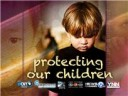 """Protecting Our Children"" title slate"