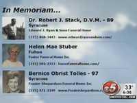 Syracuse's CNYCentral TV stations airing obits during newscasts