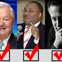 Local and national broadcasters garner write-in votes in 2012 elections