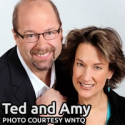 Ted & Amy celebrating 25 years on 93Q mornings