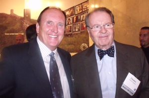 Rick Gary and Charles Osgood at the 2009 NYSBA Hall of Fame Induction in New York City on November 12, 2009.