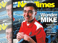 Syracuse Sportscaster Benetti Gets Newspaper Cover